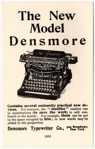 Densmore No.5 Typewriter