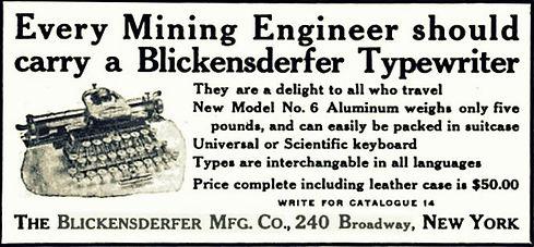 Blickensderfer Aluminum German Ad 01