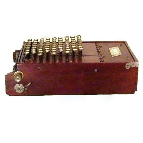 Wood Comptometer Calculating Machine