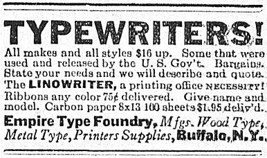 Linowriter Ad