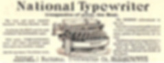 The National Typewriter Ad