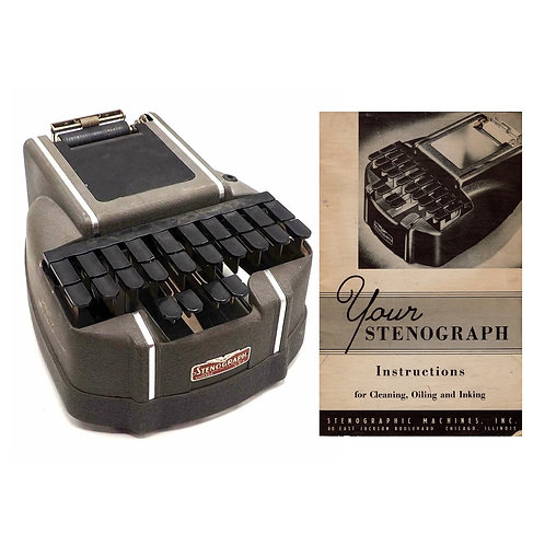 Stenograph Short Hand Machine Instruction Manual