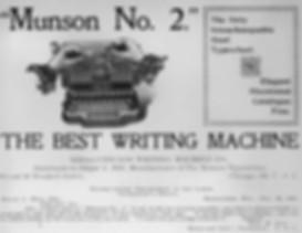 Munson No.2 Typewriter Ad