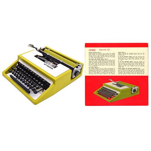 Montgomery Ward Escort 33 Typewriter Instruction Manual