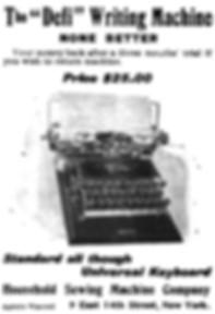 The Defi Typewriter Ad