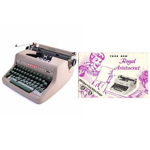 Royal Aristocrat Typewriter Instruction Manual