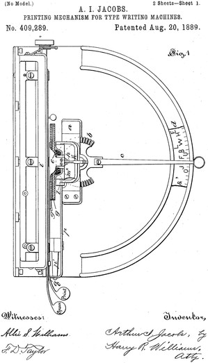Victor Typewriter Patent