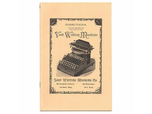 Post Era The NEW YOST TYPEWRITER Instruction Manual Antique Active