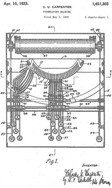 Dayton Typewriter Patent