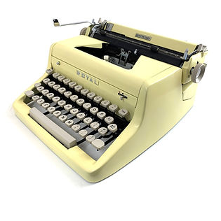 Yellow Royal Quiet de Luxe Typewriter