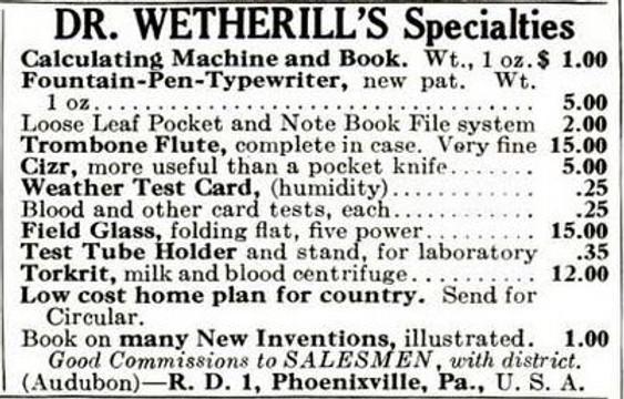 Dr. Wetherill's Specialties