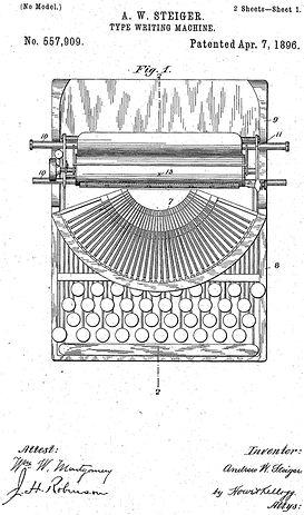 Jackson Typewriter Patent