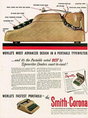 Smith Corona 5 Series Typewriter Ad 1950