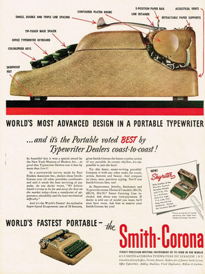 Smith Corona 5 Series Typewriter Ad 1950