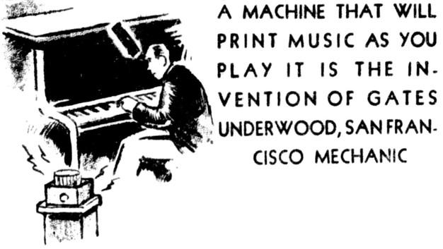 Underwood Music Writing Machine Typewriter