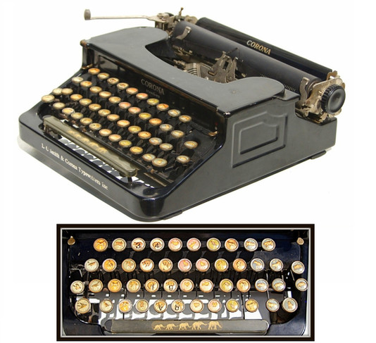 Corona Animal Keyboard Typewriter