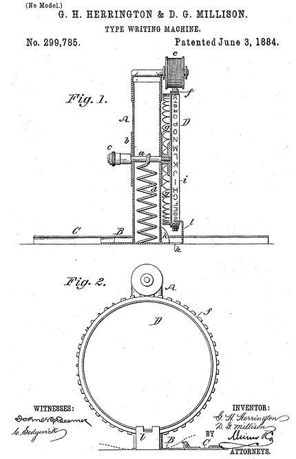 Herrington Typewriter Patent