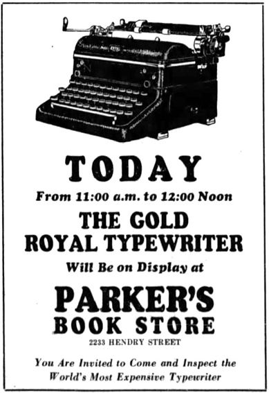 Gold Royal Quiet de Luxe Portable Typewriter Ad