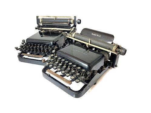 Antique 1908 AMERICAN No.7 & 8 TYPEWRITERS Upstrike Blindwriter