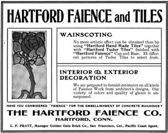 Hartford Faience Ad