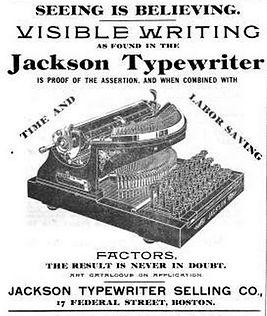 Jackson Typewriter Ad August 1899
