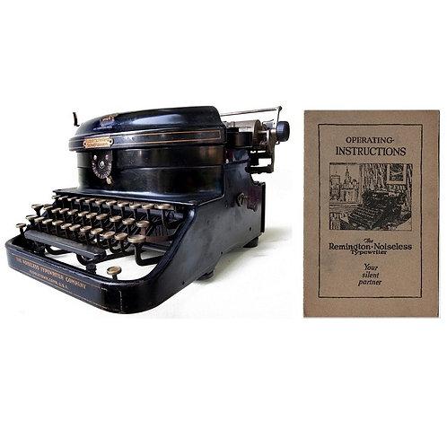 Remington Noiseless No.5 Typewriter Instruction Manual
