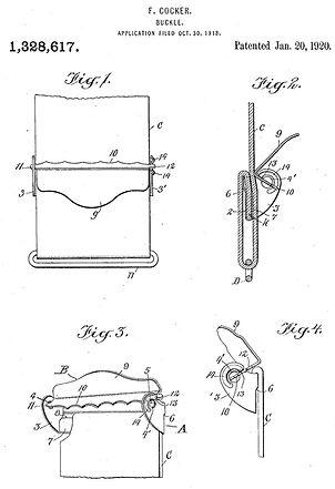 Frederick Cocker Buckle Patent