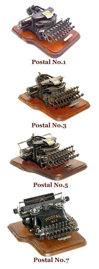 Postal Typewriter Models