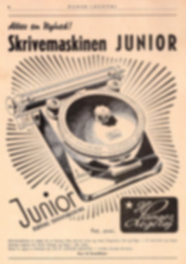Junior Index Toy Typewriter Advertisment 1948