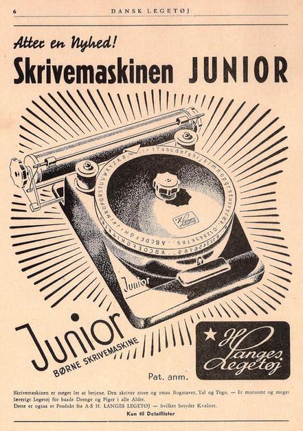 Junior Index Toy Typewriter Advertisment 1948