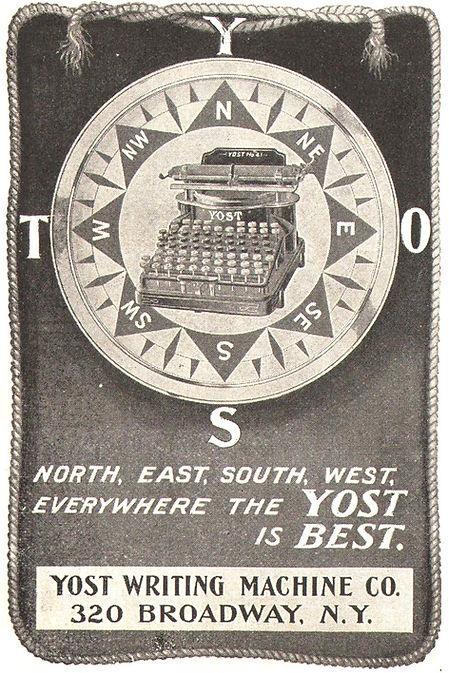 Yost No.4 Typewriter Ad