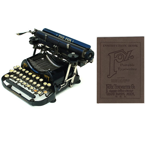 Fox No.1 Portable Typewriter Instruction Manual