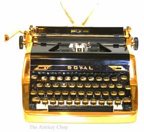 Gold Royal Quiet de Luxe Portable Typewriter
