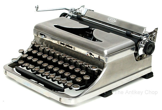 Stainless Steel Royal de Luxe Portable Typewriter