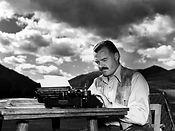Hemingway with Typewriter