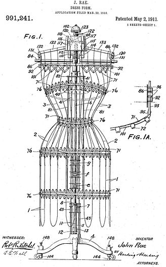The Lady Claire Dress Form Patent
