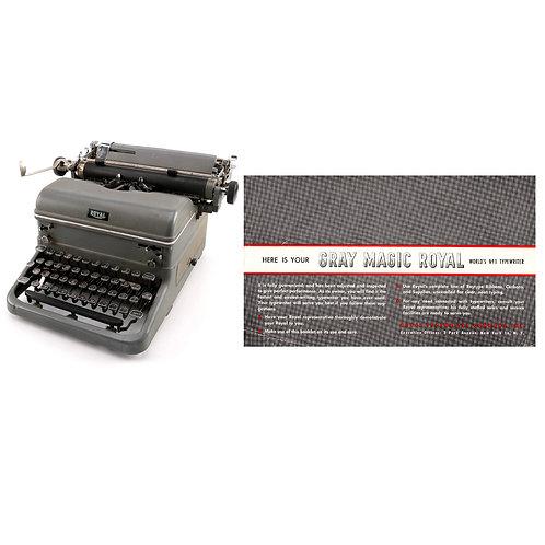 Royal KMG Typewriter Instruction Manual