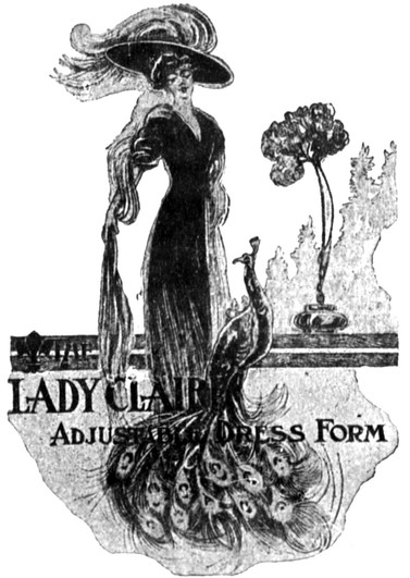 The Lady Claire Dress Form Ad