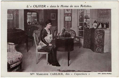 Oliver Typewriter Postcard