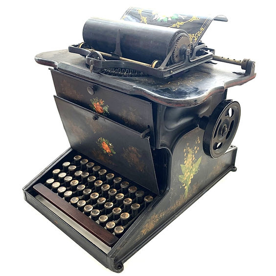 Sholes and Glidden Typewriter Decorated