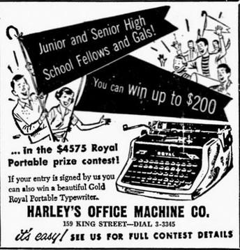 Gold Royal Quiet de Luxe Typewriter Ad