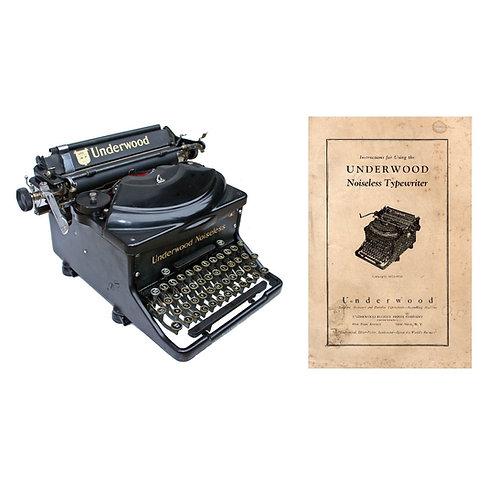 Underwood Noiseless Standard Typewriter Instruction Manual