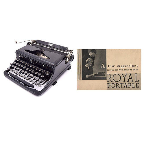 Royal Model O Typewriter Instruction Manual