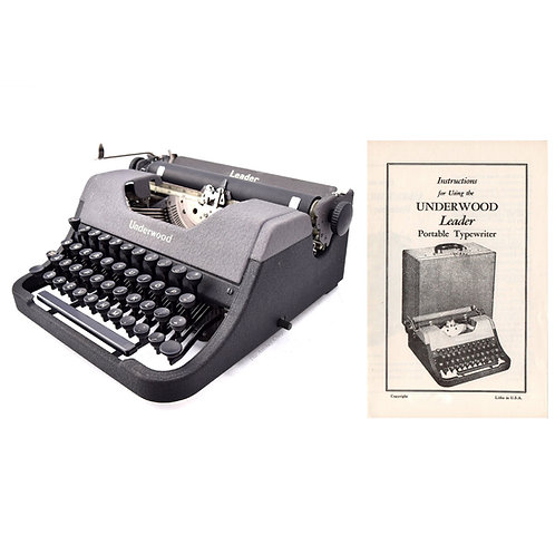 Underwood Leader Typewriter Instruction Manual