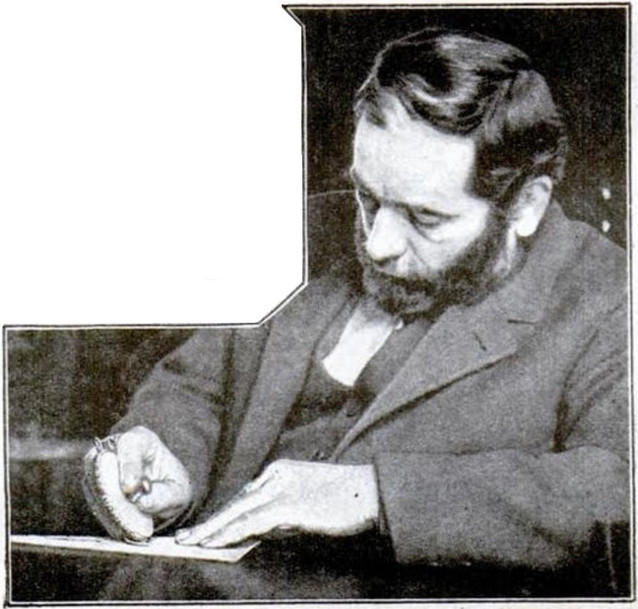 Dr. Wetherill with Typen Typewriter