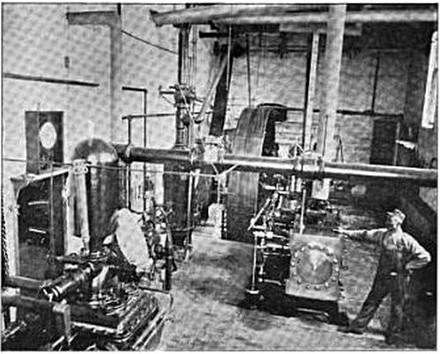 A. D. Meiselbach Manufacturing Company Factory Engine Room