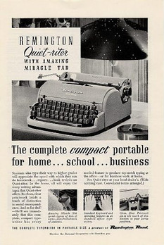 Remington Quiet Riter Typewriter Ad 1952