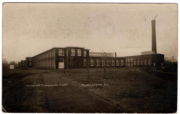 The Noiseless Typewriter Factory Postcard
