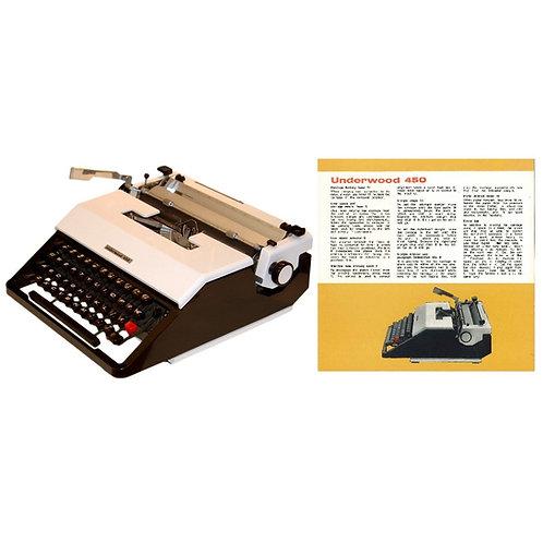 Underwood 450 Typewriter Instruction Manual
