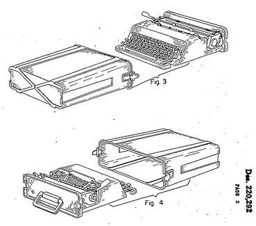Olivetti Valentine Typewriter Patent